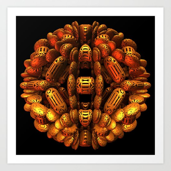 Golden Orb Art Print