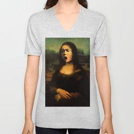 Caravaggio's Mona Lisa Unisex V-Neck