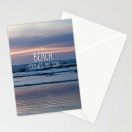 Beach Glow Soothes Soul Stationery Cards