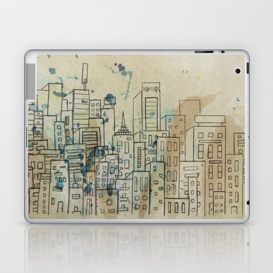 Sketch of buildings in a city that doesn't exist Laptop & iPad Skin