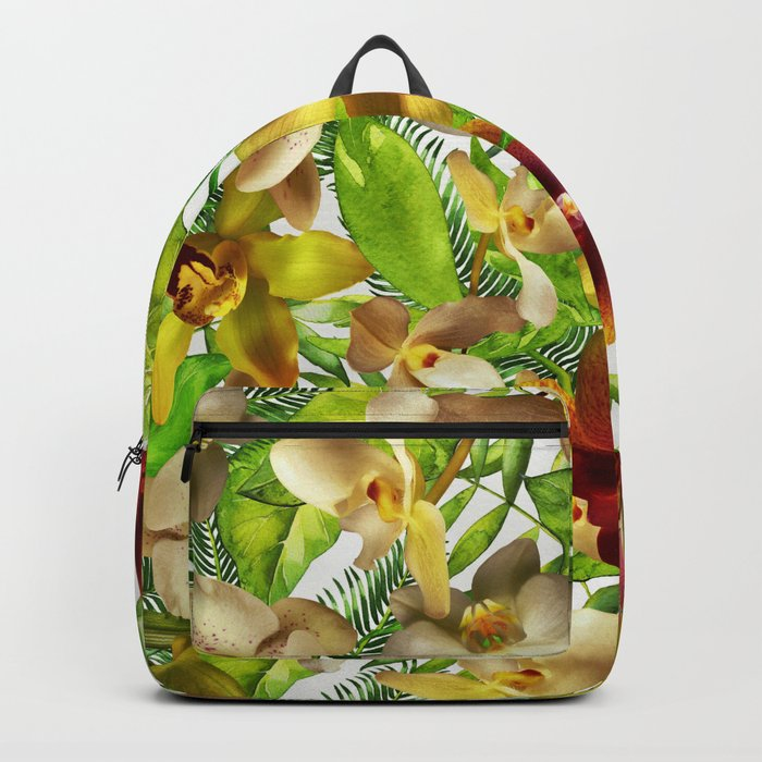 My tropical Orchid Garden- Jungle Pattern on #Society6 Backpack