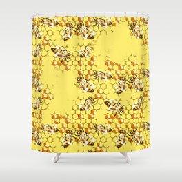 Honey Hive Shower Curtain