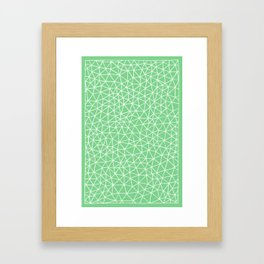 Connectivity - White on Mint Green Framed Art Print