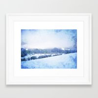 blanket Framed Art Prints featuring Blanket by Astrid Ewing