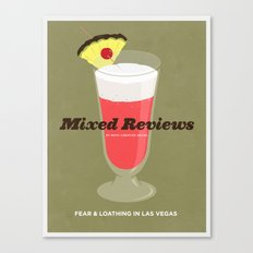 Mixed Reviews - Fear and Loathing in Las Vegas Canvas Print