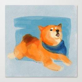 Cheeky Shiba Canvas Print