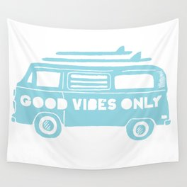 94da4fa1b1 Good Vibes Only retro surfing Camper Van Wall Tapestry