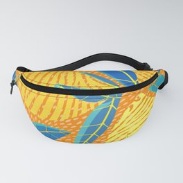 Striped Lemons - Whimsical Fruit Design Fanny Pack
