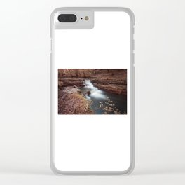 Unnamed waterfall in South Wales Clear iPhone Case