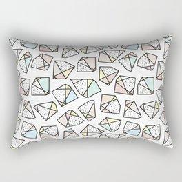 Polygonal stones and gemstones Rectangular Pillow