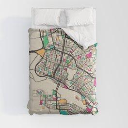 Colorful City Maps: Oakland, California Comforters