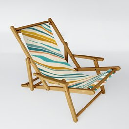Summer Ocean / Teal & Gold Sling Chair