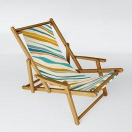 Summer Ocean / Teal & Gold Sling Chair