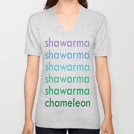 shawarma chameleon Unisex V-Neck