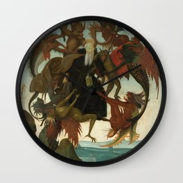 Michelangelo - The Torment of Saint Anthony Wall Clock