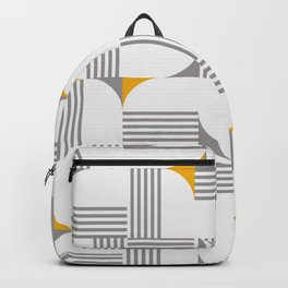 MID CENTURY MODERN Geometric Dynamic Triangle and Stripes Pattern minimal  Backpack