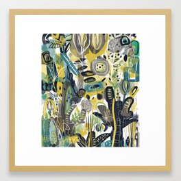 Green Bean Jelly Bean Framed Art Print