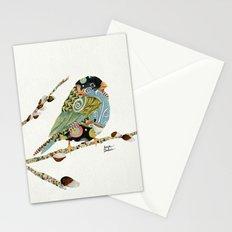 Cafe Swirly Bird 3 Stationery Cards
