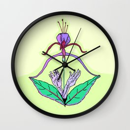 Archery Blossoming Wall Clock