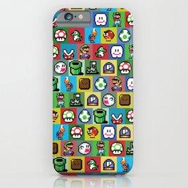Mario and Luigi Pattern iPhone Case