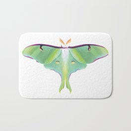 Luna Moth - Digital Illustration Bath Mat