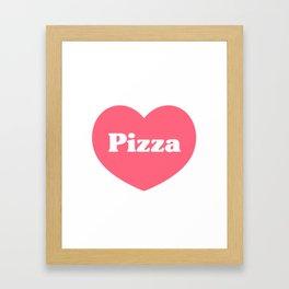Heart Pizza Framed Art Print