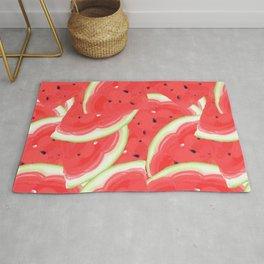 Large seamless pattern of ripe, sweet, juicy watermelon.  Rug