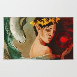 Pisces zodiac tarot card merrill dragon age Rug