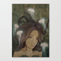 siren Canvas Prints featuring Siren by  The Floral Fox