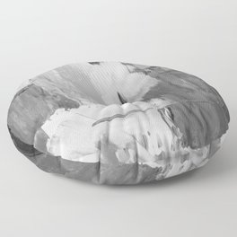 Paint (Black and White) Floor Pillow