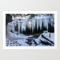 Ice Fangs Art Print