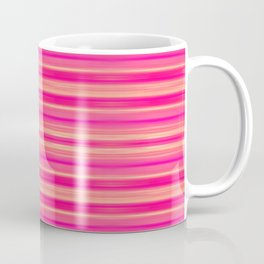 Coral and Pink Brush Stroke Painted Stripes Coffee Mug