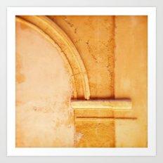 Stone arch detail. Art Print