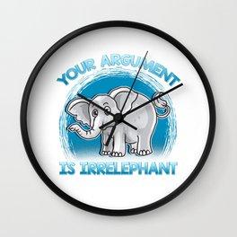 Funny Elephant Gift Idea Wall Clock