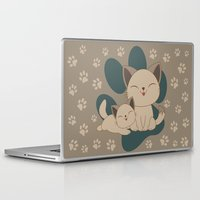mew Laptop & iPad Skins featuring Mama, Mew...Mew... by HK Chik