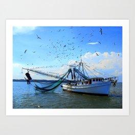 Shrimp Boat  Art Print