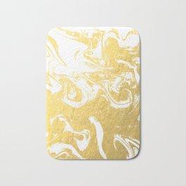 Suminagashi spilled ink gold marble marbled pattern japanese minimalist nursery dorm college Bath Mat