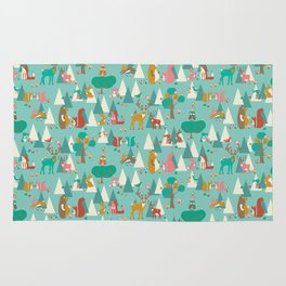 Forest Hideaway-in the forest Rug