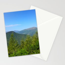Mountain and trees Stationery Cards