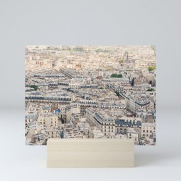 Paris, France Aerial City View from Sacre Coeur Mini Art Print