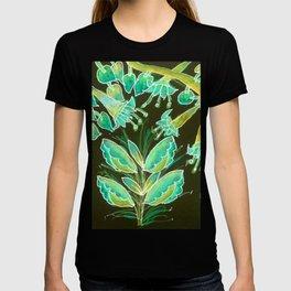 Irish Garden, Lime Green Flowers Dance in Joy T-shirt