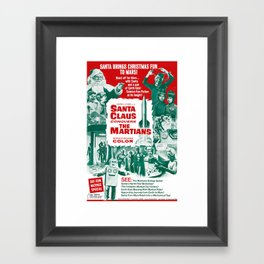Santa Claus Conquers The Martians Framed Art Print