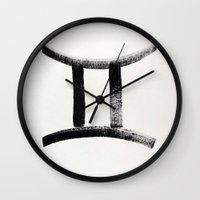 gemini Wall Clocks featuring Gemini by KASAMONART