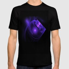 Crystal Light from the Deep MEDIUM Mens Fitted Tee Black