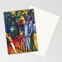 Hyacinth Macaw and Zoological Garden by August Macke Stationery Cards