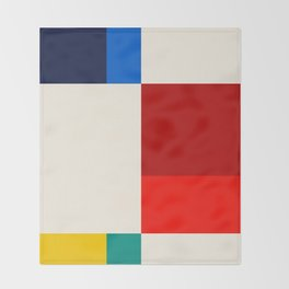 Mid Century Modern Vintage 19 Throw Blanket