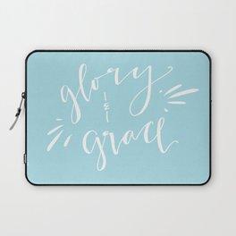 Glory and Grace // Blue Laptop Sleeve