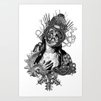 passion Art Prints featuring Passion by DIVIDUS