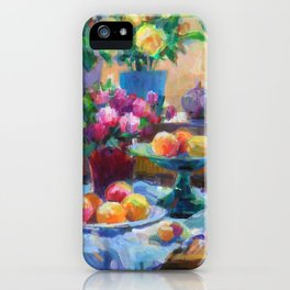 Still Life with Flowers and Fruits iPhone Case