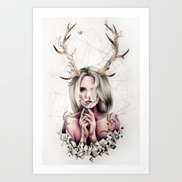 The Antlers  Art Print
